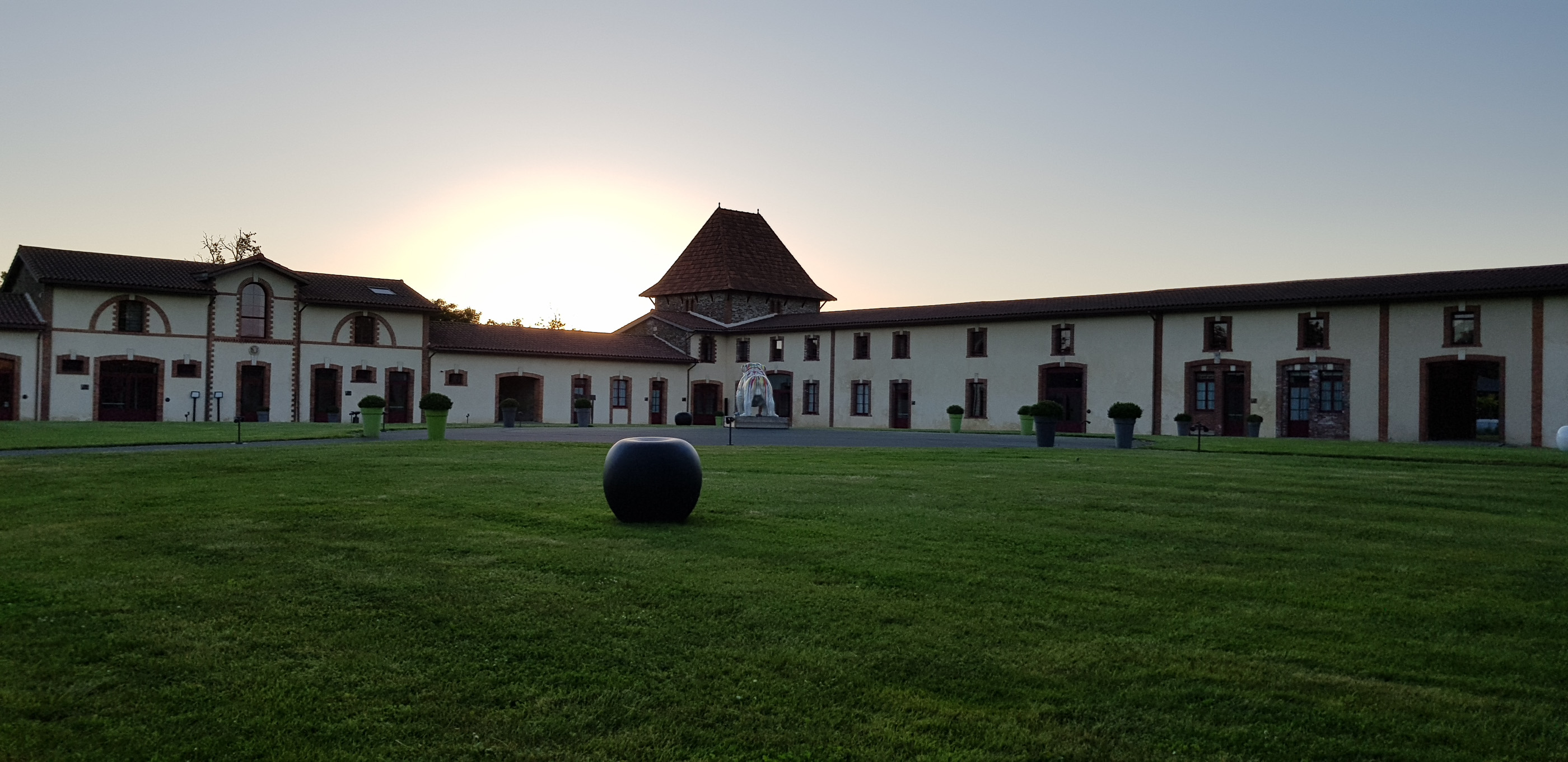 Sunset at Domaine des Lys Luxury Hotel in the Pays de la Loire in Ancenis